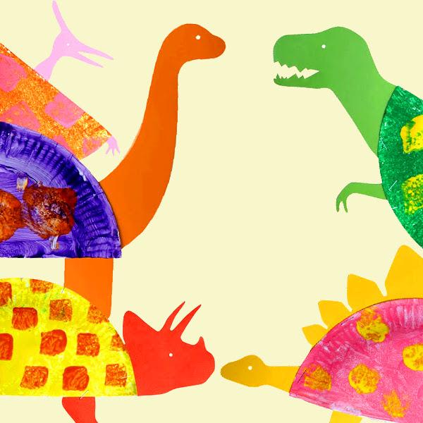 подделка из бумаги динозавры