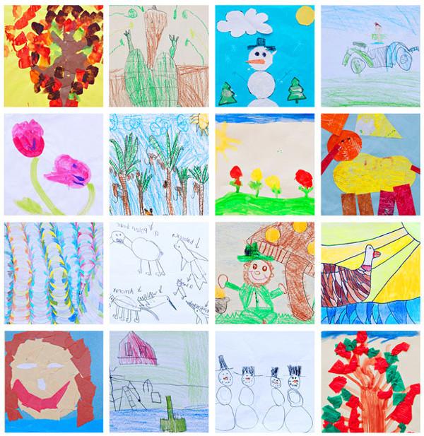 как хранить детские рисунки