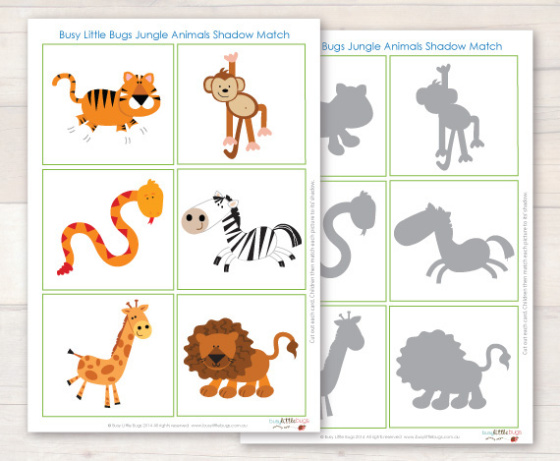 """Игра """"Чья тень? Животные Африки"""""""